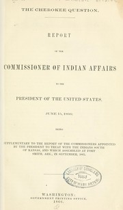 Cover of: The Cherokee question | United States. Bureau of Indian affairs