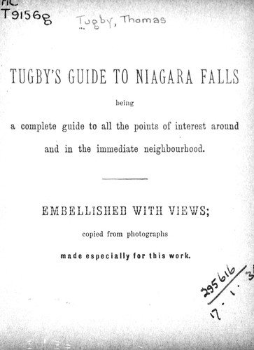 Tugby's guide to Niagara Falls by Thomas Tugby