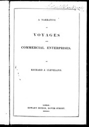 Cover of: A narrative of voyages and commercial enterprises | Richard J. Cleveland