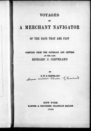 Cover of: Voyages of a merchant navigator of the days that are past | Richard J. Cleveland