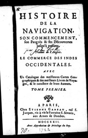 Cover of: Histoire de la navigation by John Locke