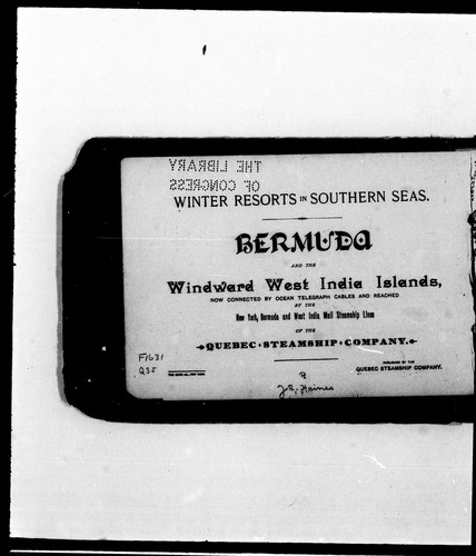 Winter resorts in southern seas by Quebec Steamship Company
