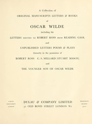 Cover of: A collection of original manuscripts letters & books of Oscar Wilde | A. Dulau & Co.
