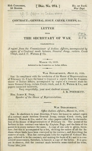 Contract--General Jesup by United States. Bureau of Indian affairs