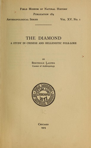 The diamond by Berthold Laufer