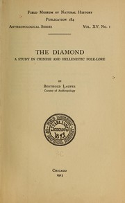 Cover of: The diamond by Berthold Laufer