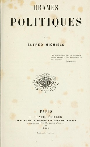 Drames politiques by Alfred Michiels