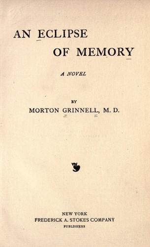 An eclipse of memory by Morton Grinnell