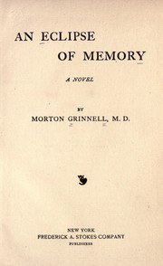 Cover of: An eclipse of memory | Morton Grinnell