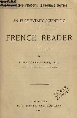 An elementary scientific French reader by Pauline Mariotte-Davies