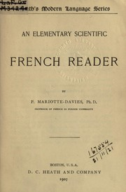 Cover of: An elementary scientific French reader | Pauline Mariotte-Davies