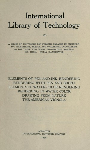 Elements of pen-and-ink rendering by