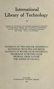 Cover of: Elements of pen-and-ink rendering by