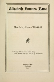 Cover of: Elizabeth Lownes Rust | Mary Haven Thirkield