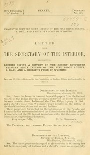 Cover of: Encounter between Sioux Indians of the Pine Ridge agency by United States. Bureau of Indian affairs