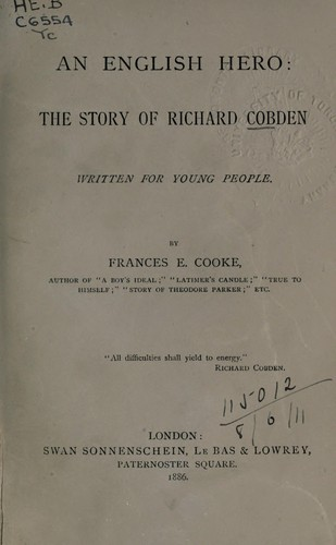 An English hero by Frances E. Cooke