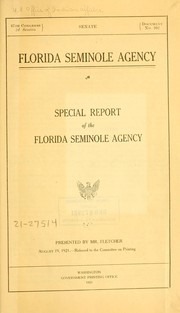 Cover of: Florida Seminole agency by United States. Bureau of Indian affairs. Seminole Agency
