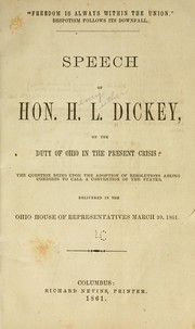 Cover of: Freedom is always within the Union by Henry Luther Dickey