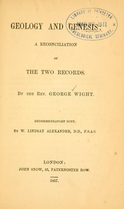 Cover of: Geology and Genesis | George Wight