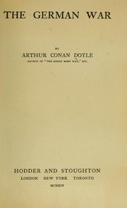 Cover of: The German war | Sir Arthur Conan Doyle