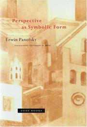 Cover of: Perspective as symbolic form | Erwin Panofsky