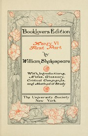 Cover of: Henry VI, first part | William Shakespeare