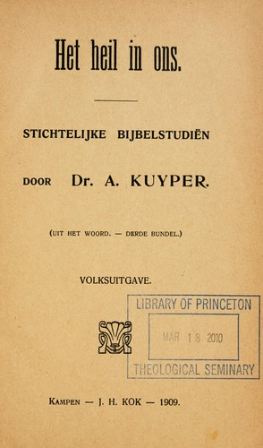Het heil in ons by Abraham Kuyper