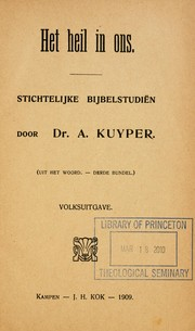 Cover of: Het heil in ons | Abraham Kuyper