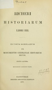 Cover of: Historiarum: Libri IIII | Richer French chronicler