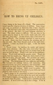 Cover of: How to bring up children by William S. Plumer