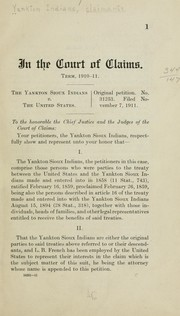 Cover of: In the Court of claims | Yankton Indians, claimants