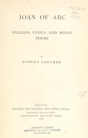 Cover of: Joan of Arc by Robert Southey