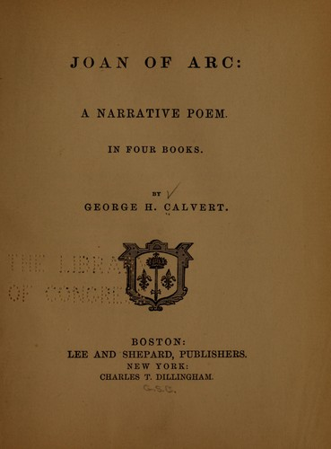 Joan of Arc by George Henry Calvert