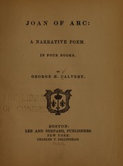 Cover of: Joan of Arc | George Henry Calvert