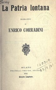 Cover of: La patria lontana by Enrico Corradini