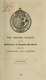Cover of: A list of the Lancashire wills proved within the archdeaconry of Richmond, and now preserved in Somerset hiouse, London | Richmond, Eng. (Archdeaconry)