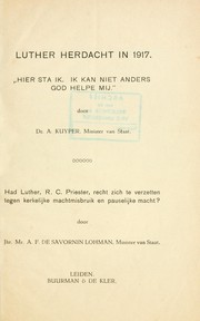 Cover of: Luther herdacht in 1917 | Abraham Kuyper