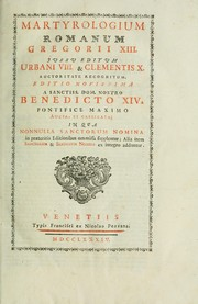 Cover of: Martyrology by Catholic Church