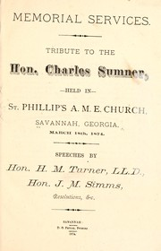 Cover of: Memorial services by Savannah. St. Philip's African Methodist Episcopal church