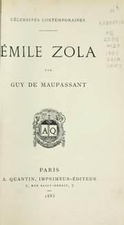 Cover of: Émile Zola | Guy de Maupassant