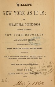 Cover of: Miller's New York as it is | Miller, James of New York, pub
