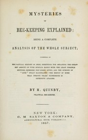 Cover of: Mysteries of bee-keeping explained | M. Quinby