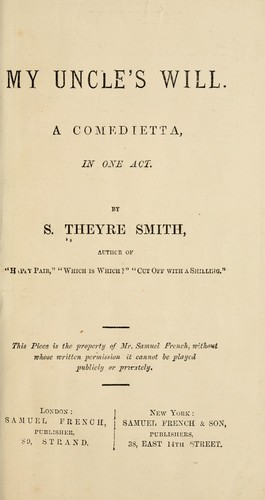 My uncle's will by S. Theyre-Smith