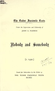 Cover of: Nobody and Somebody, c.1592 |