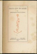 Cover of: Days off in Dixie by Archibald Hamilton Rutledge