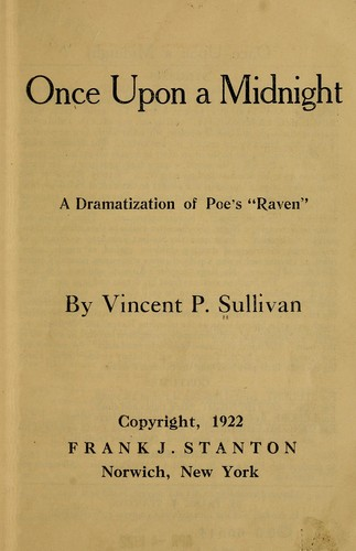 Once upon a midnight by Vincent Philamon Sullivan