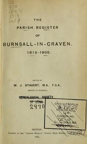 The parish register of Burnsall-in-Craven