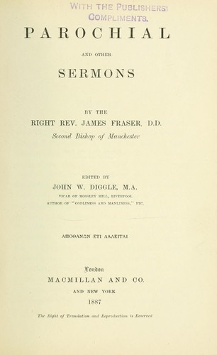 Parochial and other sermons by Fraser, James bp. of Manchester