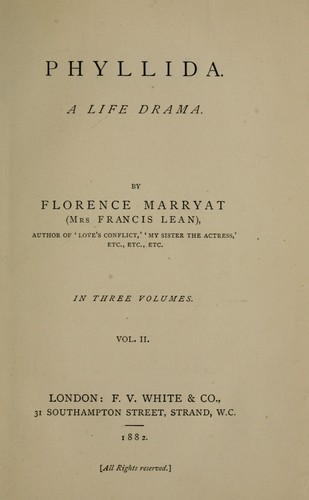 Phyllida. A life drama by Florence Marryat