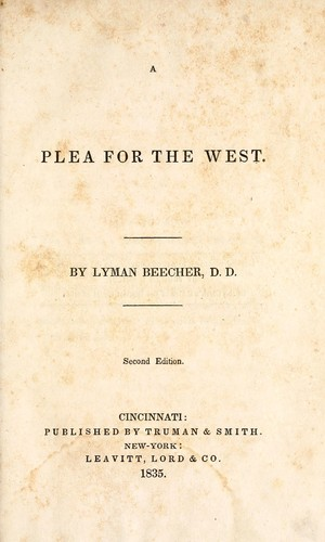 plea for the west